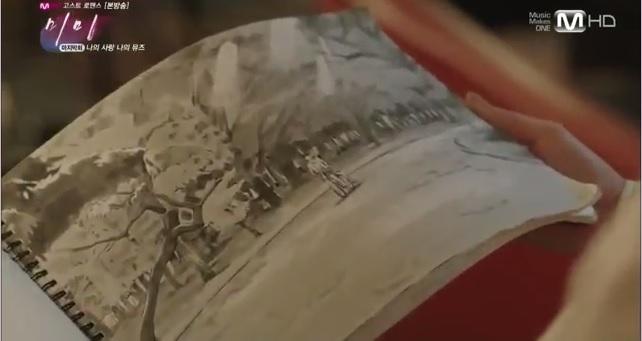 buku sketsa Min-woo, lebih mirip diary tentang kisah cintanya sama Mimi dalam bentuk sketsa. :)